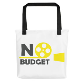 Tote Bag With No Budget Logo