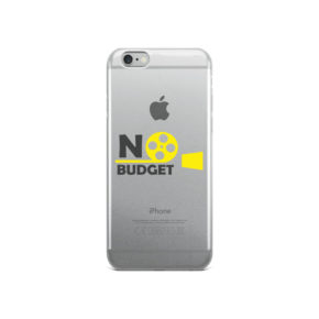 iPhone case with No Budget Logo