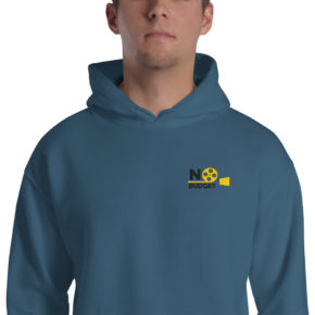 No budget Light Blue Hoodie