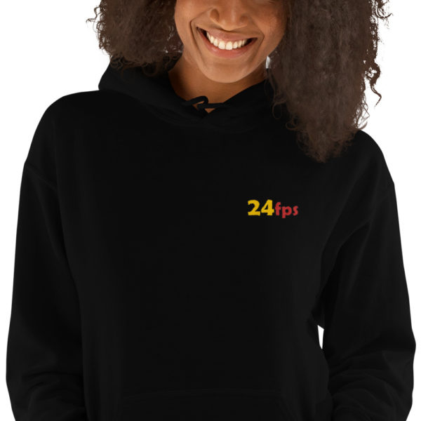 24fps embroidered hoodie