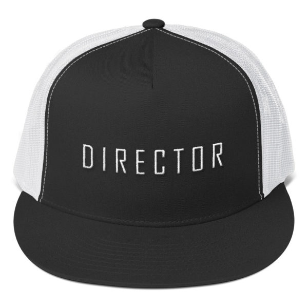 Hat with director on it