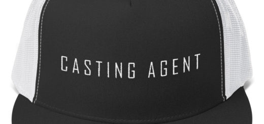 Fun hat with casting agent logo
